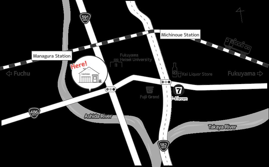 ラルドワーズへの地図